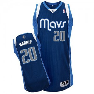Maillot NBA Dallas Mavericks #20 Devin Harris Bleu marin Adidas Authentic Alternate - Homme