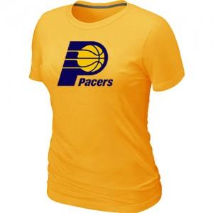 T-Shirts NBA Jaune Indiana Pacers Big & Tall Femme