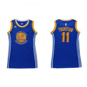 Golden State Warriors Klay Thompson #11 Dress Swingman Maillot d'équipe de NBA - Bleu pour Femme