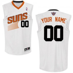 Maillot NBA Authentic Personnalisé Phoenix Suns Home Blanc - Enfants