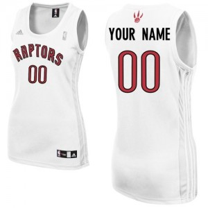 Maillot NBA Blanc Swingman Personnalisé Toronto Raptors Home Femme Adidas