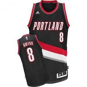 Maillot Adidas Noir Road Swingman Portland Trail Blazers - Al-Farouq Aminu #8 - Homme