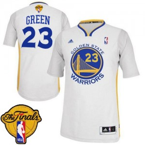 Maillot Adidas Blanc Alternate 2015 The Finals Patch Swingman Golden State Warriors - Draymond Green #23 - Homme