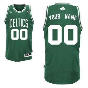 Maillot NBA Boston Celtics Personnalisé Swingman Vert (No Blanc) Adidas Road - Homme