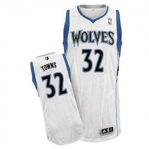 Maillot NBA Authentic Karl-Anthony Towns #32 Minnesota Timberwolves Home Blanc - Homme