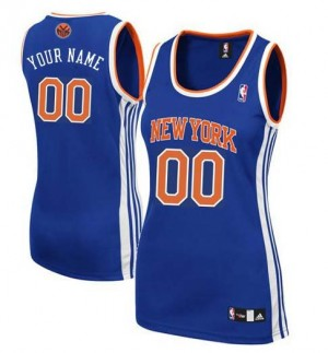 Maillot NBA Bleu royal Authentic Personnalisé New York Knicks Road Femme Adidas