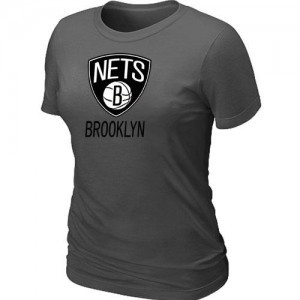 T-Shirts NBA Brooklyn Nets Gris foncé Big & Tall - Femme