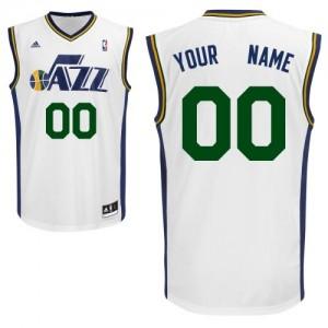 Maillot NBA Blanc Swingman Personnalisé Utah Jazz Home Homme Adidas