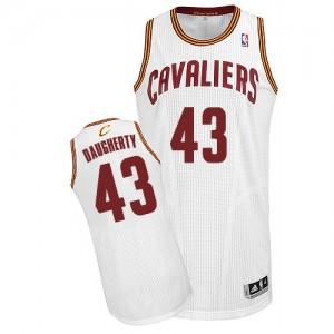 Cleveland Cavaliers Brad Daugherty #43 Home Authentic Maillot d'équipe de NBA - Blanc pour Homme