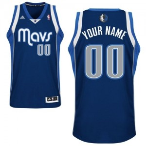 Maillot NBA Swingman Personnalisé Dallas Mavericks Alternate Bleu marin - Homme