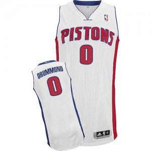 Maillot Adidas Blanc Home Authentic Detroit Pistons - Andre Drummond #0 - Homme
