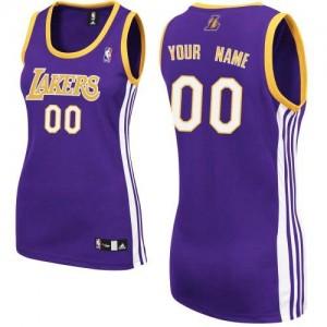 Los Angeles Lakers Personnalisé Adidas Road Violet Maillot d'équipe de NBA en ligne - Authentic pour Femme