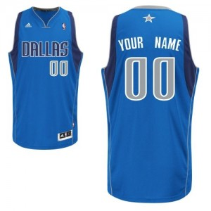 Maillot NBA Swingman Personnalisé Dallas Mavericks Road Bleu royal - Homme