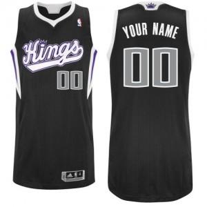 Sacramento Kings Authentic Personnalisé Alternate Maillot d'équipe de NBA - Noir pour Enfants