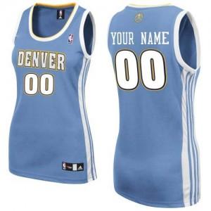 Maillot Denver Nuggets NBA Road Bleu clair - Personnalisé Authentic - Femme