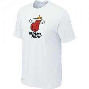 T-Shirts NBA Miami Heat Blanc Big & Tall - Homme
