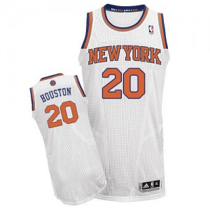 Maillot NBA Authentic Allan Houston #20 New York Knicks Home Blanc - Homme