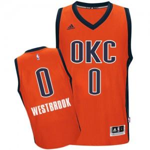 Maillot NBA Oklahoma City Thunder #0 Russell Westbrook Orange Adidas Swingman climacool - Homme