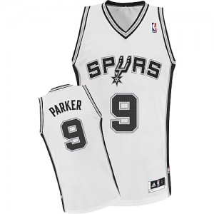 Maillot NBA Authentic Tony Parker #9 San Antonio Spurs Home Blanc - Enfants