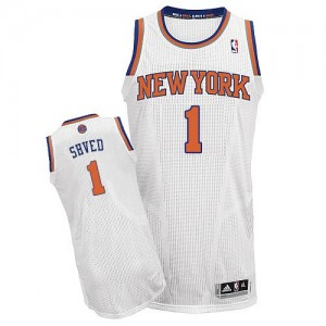Maillot Adidas Blanc Home Authentic New York Knicks - Alexey Shved #1 - Homme