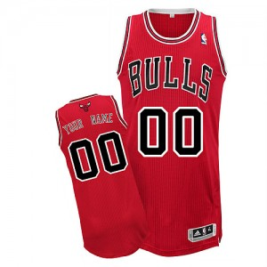 Maillot NBA Rouge Authentic Personnalisé Chicago Bulls Road Homme Adidas