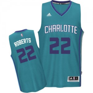 Maillot NBA Charlotte Hornets #22 Brian Roberts Bleu clair Adidas Swingman Road - Homme