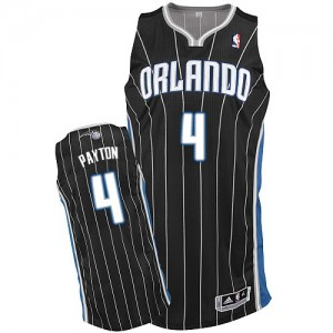 Maillot Authentic Orlando Magic NBA Alternate Noir - #4 Elfrid Payton - Homme