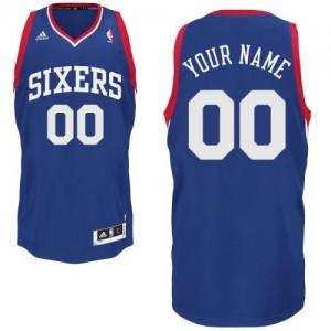 Philadelphia 76ers Personnalisé Adidas Alternate Bleu royal Maillot d'équipe de NBA en ligne - Swingman pour Homme