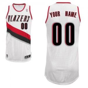Maillot NBA Blanc Authentic Personnalisé Portland Trail Blazers Home Homme Adidas