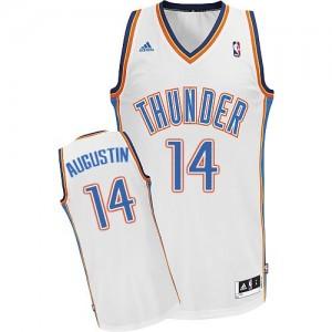Maillot NBA Blanc D.J. Augustin #14 Oklahoma City Thunder Home Swingman Homme Adidas