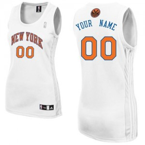 Maillot NBA Blanc Authentic Personnalisé New York Knicks Home Femme Adidas