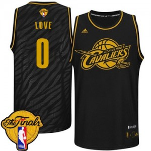 Maillot NBA Noir Kevin Love #0 Cleveland Cavaliers Precious Metals Fashion 2015 The Finals Patch Authentic Homme Adidas