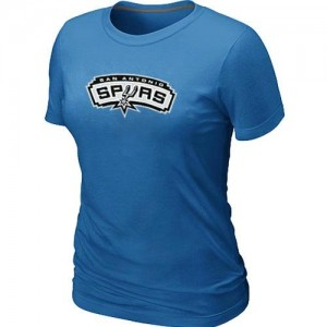T-shirt principal de logo San Antonio Spurs NBA Big & Tall Bleu clair - Femme