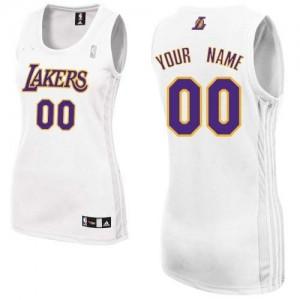 Los Angeles Lakers Personnalisé Adidas Alternate Blanc Maillot d'équipe de NBA Remise - Authentic pour Femme