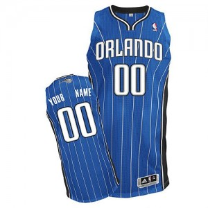 Maillot NBA Bleu royal Authentic Personnalisé Orlando Magic Road Enfants Adidas