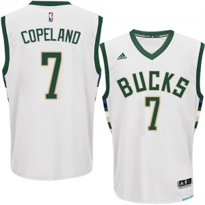 Maillot Authentic Milwaukee Bucks NBA Home Blanc - #7 Chris Copeland - Homme