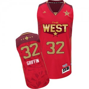 Maillot NBA Rouge Blake Griffin #32 Los Angeles Clippers 2011 All Star Authentic Homme Adidas