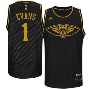 New Orleans Pelicans #1 Adidas Precious Metals Fashion Noir Authentic Maillot d'équipe de NBA vente en ligne - Tyreke Evans pour Homme