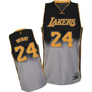 Maillot NBA Authentic Kobe Bryant #24 Los Angeles Lakers Fadeaway Fashion Gris noir - Homme