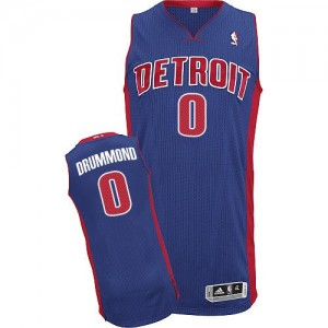 Maillot Authentic Detroit Pistons NBA Road Bleu royal - #0 Andre Drummond - Homme