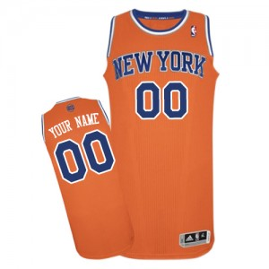 Maillot NBA Orange Authentic Personnalisé New York Knicks Alternate Femme Adidas