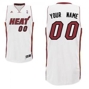Miami Heat Swingman Personnalisé Home Maillot d'équipe de NBA - Blanc pour Homme