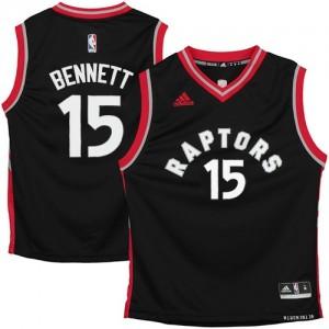 Maillot NBA Toronto Raptors #15 Anthony Bennett Noir Adidas Swingman - Homme