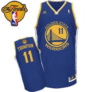Golden State Warriors #11 Adidas Road 2015 The Finals Patch Bleu royal Swingman Maillot d'équipe de NBA pas cher - Klay Thompson pour Femme