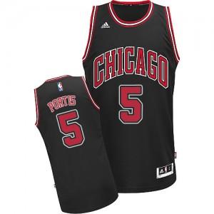 Maillot Swingman Chicago Bulls NBA Alternate Noir - #5 Bobby Portis - Homme