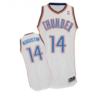 Maillot NBA Blanc D.J. Augustin #14 Oklahoma City Thunder Home Authentic Homme Adidas