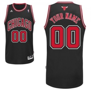 Maillot NBA Noir Swingman Personnalisé Chicago Bulls Alternate Homme Adidas
