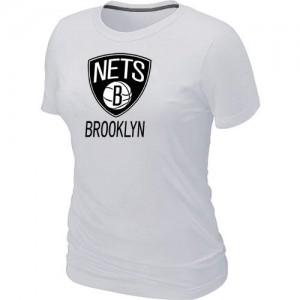 T-Shirts NBA Blanc Brooklyn Nets Big & Tall Femme