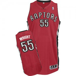 Maillot NBA Authentic Delon Wright #55 Toronto Raptors Road Rouge - Homme
