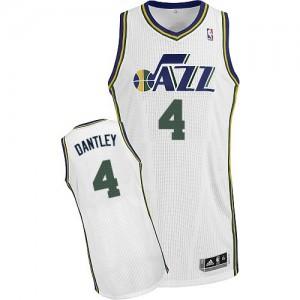 Utah Jazz #4 Adidas Home Blanc Authentic Maillot d'équipe de NBA magasin d'usine - Adrian Dantley pour Homme